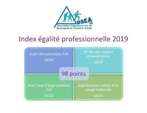 Index de l'égalité professionnelle 2019