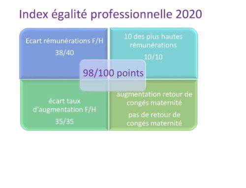 Index de l'égalité profesionnelle