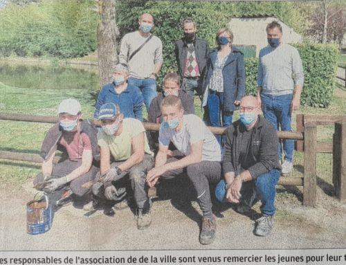 Des jeunes peintres au parc Louis Jouvet- Digne