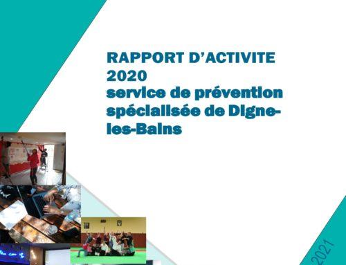 Rapports d'activité du service de prévention spécialisée de Digne et de Manosque 2020